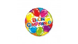 Palloncino foil mylar Buon Compleanno stampa palloni - 46 cm