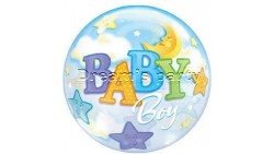 PALLONE BUBBLES BABY BOY 56 CM