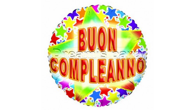 PALLONE MYLAR BUON COMPLEANNO STARDUS D. 45CM