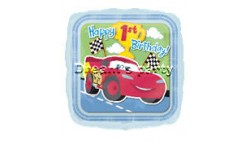 PALLONE MYLAR 18 CARS 1° COMPLEANNO
