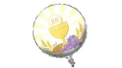 Pallone PALLONCINO in Foil Mylar PRIMA COMUNIONE - gonfiabile ad aria o ad elio