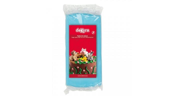 Pasta di zucchero AZZURRO 250g - glassa Fondente - per copertura torte e dolci