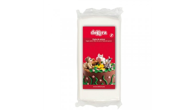 Pasta di zucchero BIANCO 250g - glassa Fondente - per copertura torte e dolci