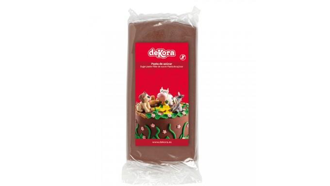 Pasta di zucchero MARRONE 250g - glassa Fondente - per copertura torte e dolci
