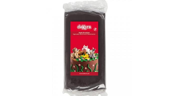 Pasta di zucchero NERO 250g - glassa Fondente - per copertura torte e dolci