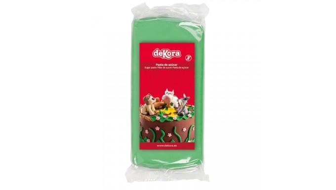 Pasta di zucchero VERDE 250g - glassa Fondente - per copertura torte e dolci