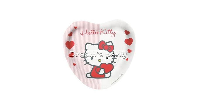 PIATTO CUORE HELLO KITTY SWEET HEART D.18 PZ 8