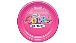 PIATTO PLASTICA PIANO FUCSIA PZ 30 CM 22