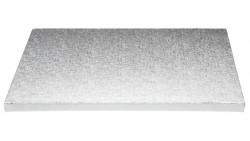 Piatto SottoTorta rigido vassoio RETTANGOLARE - CAKE BOARD Argentato 35 x 45cm