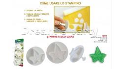 SET 3 STAMPINI AD ESPULSIONE EDERA DIMENSIONE 4,5-5-5,5