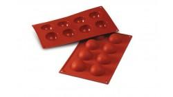 Stampo in silicone alimentare SEMISFERA - 8 cavità - Ø5xh2,5cm - torte e dolci