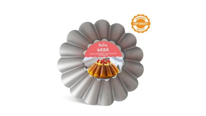 Teglia stampo BABA'-  Ø24 x H8 cm - Tegame da forno in ACCIAIO antiaderente