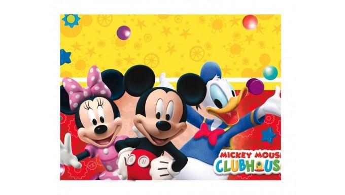 Tovaglia TOPOLINO in PVC 120x180cm - addobbo decoro tavolo torta - festa per bambini
