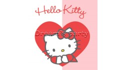 TOVAGLIOLO HELLO KITTY SWEET HEART 33X33  PZ 20