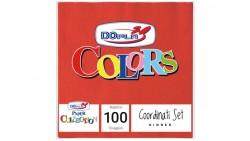 50 TOVAGLIOLI Rosso in carta monouso - Tovagliolo di pura cellulosa 2veli