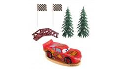 Kit CARS disney - Saetta McQueen topper decorazione per TORTA DOLCI