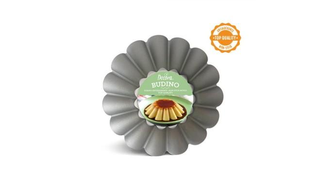 Teglia stampo BUDINO medio -  Ø20 x H7 cm - Tegame da forno ACCIAIO antiaderente