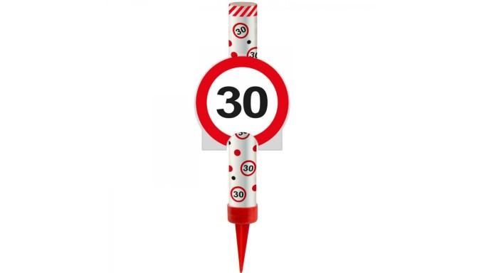 Candela Luminosa Fiaccola Fontana numero 30 anni - Magic Flambè compleanno