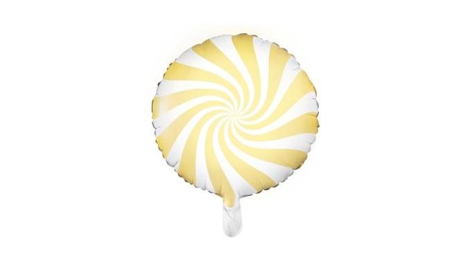 Pallone PALLONCINO CANDY GIALLO - gonfiabile ad aria o elio 35CM