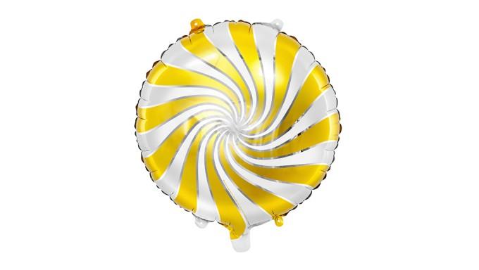 Pallone PALLONCINO CANDY ORO - gonfiabile ad aria o elio 35CM
