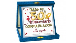 La TARGA per il 50° anniversario di matrimonio - idea gaget scherzo