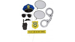 10 Bastoni Selfie POLIZIA, Police - Props PUNTELLI BASTONCINI stick SELFIE - photo booth