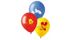 10 PALLONCINI in LATTICE Topolino - Mickey Mouse Club House - per feste, COMPLEANNO