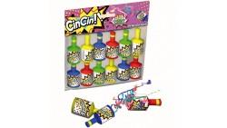 12 Bottigliette sparacoriandoli per bambini - CIN CIN - lancia coriandoli