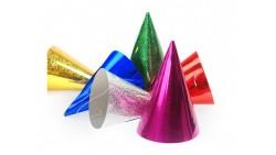 12 CAPPELLINI lucidi per party, feste di compleanno, CARNEVALE, CAPODANNO, Natale