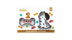 2 Tagliapasta ANIMALI Cane e Osso - taglia biscotti Dolci, Torte