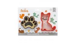 2 Tagliapasta ANIMALI Gatto Zampa - taglia biscotti Dolci, Torte