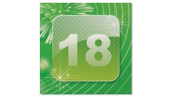 20 TOVAGLIOLI APP 18 in carta -  addobbo decoro tavola per festa di 18 anni