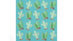20 Tovaglioli in carta deserto con LAMA, Cactus- decoro tavola Festa