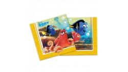 20 Tovaglioli in carta Finding Dory alla Ricerca di Nemo Disney - decoro tavola Festa