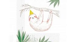 20 Tovaglioli in carta SAFARI con bradipo - decoro tavola Festa