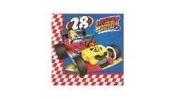 20 Tovaglioli in carta TOPOLINO Roadster Racers 33x33cm - festa per bambini