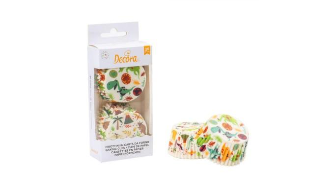 36 pirottini in carta forno DINOSAURO - per Cupcake, muffin, DOLCI 5x3,2cm