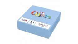 50 TOVAGLIOLI Azzurro celeste in carta monouso Tovagliolo pura cellulosa 2veli