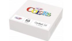 50 TOVAGLIOLI Bianco BIANCHI in carta monouso - Tovagliolo pura cellulosa 2veli