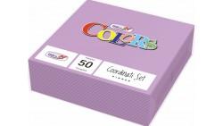50 TOVAGLIOLI Lilla VIOLA in carta monouso - Tovagliolo di pura cellulosa 2 veli