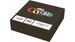 50 TOVAGLIOLI Nero NERI in carta monouso - Tovagliolo di pura cellulosa 2 veli