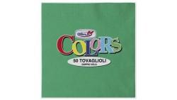 50 TOVAGLIOLI Verde in carta monouso - Tovagliolo di pura cellulosa 2 veli