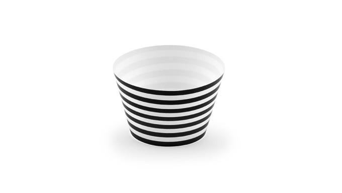 6 Avvolgi CUP CAKE - a strisce Bianco e NERO