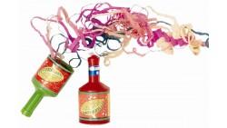 6 Bottigliette sparacoriandoli multicolor per bambini - lancia coriandoli a strappo