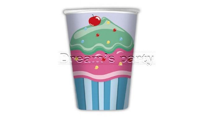 8 BICCHIERI CUP CAKE 200 CC