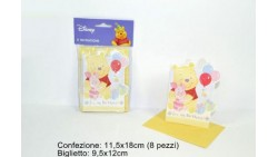 8 inviti Festa/party Winnie The Pooh