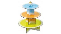 Alzata Porta MUFFIN, cupcake, dolci personalizzabile - in cartone colorato