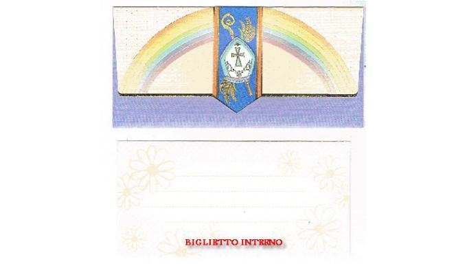 BIGLIETTO CRESIMA PORTASOLDI 18,5X10 CM