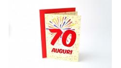 Biglietto d'auguri 70 ANNI - Biglietto augurale specifico di Compleanno - idea regalo per il neo settantenne