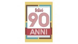 Biglietto d'auguri Compleanno 90 Anni - bigliettino augurale completo di busta